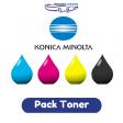 Pack Toner Konica-Minolta TN-213, 4 couleurs