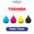 Pack Toner Toshiba T-305, 4 couleurs