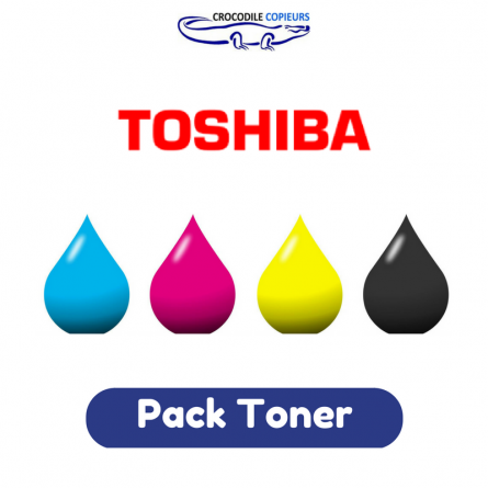 Pack Toner Toshiba T-FC25 , 4 couleurs